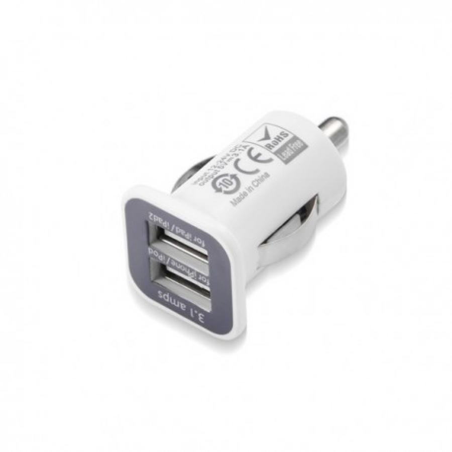 CARGADOR USB COCHE DOBLE