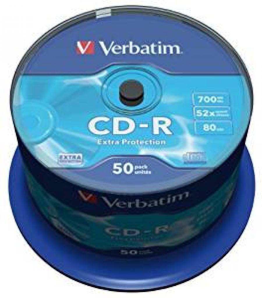 TARRINA CD-R 50 UNIDADES