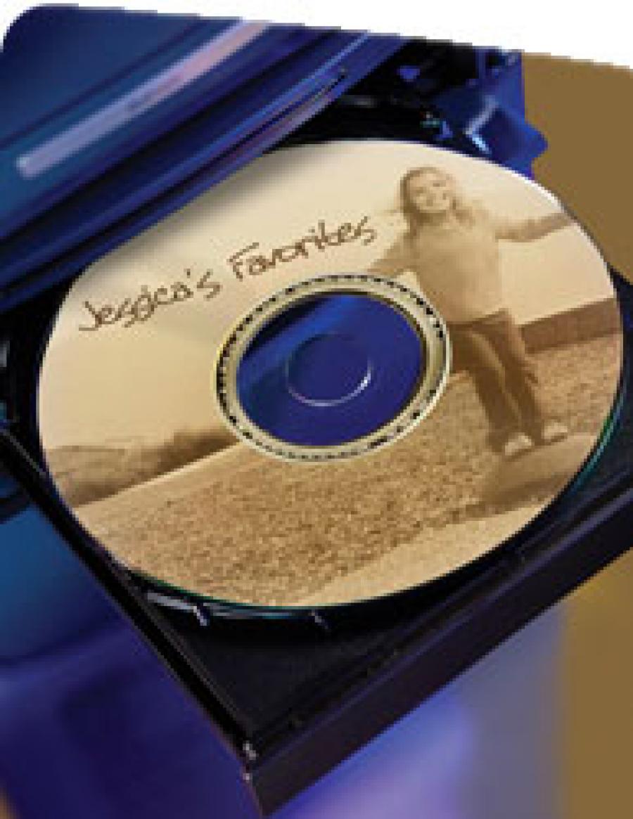 CD con grabado Lightscribe